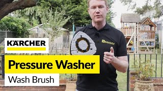 For all your Karcher spares visit: http://bit.ly/2bmXDCYThis Delta wash brush from Karcher is great for cleaning large surface areas like vans and caravans. It has high pressure rotating jets to shift stubborn dirt giving a powerful clean over a large area and the bristles reduce splashing while protecting the surface from scratching.
