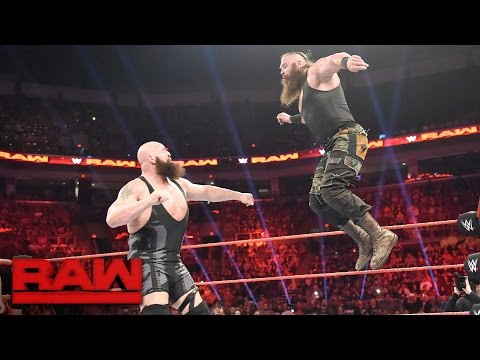 Ring Collapses During Big Show Vs Braun Strowman Raw April 17 2017