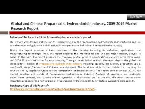 Proparacaine Hydrochloride Market Research Report 2009-2019 For World and China