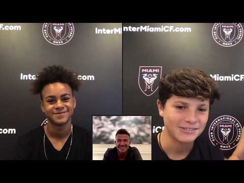 Inter Miami CF Academy Players Surprised By David Beckham