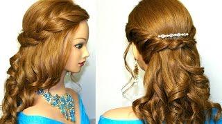 свадебные прически косое плетение волос
