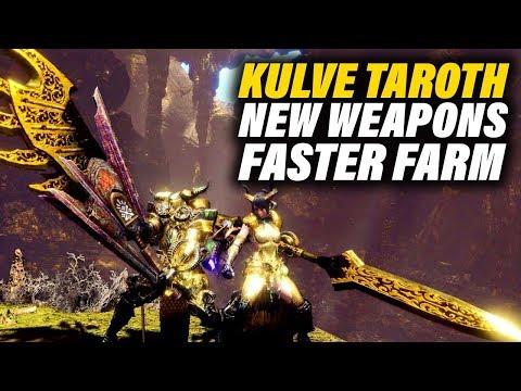 NEW KULVE TAROTH WEAPONS - SAME KULVE TAROTH FIGHT - Monster Hunter World