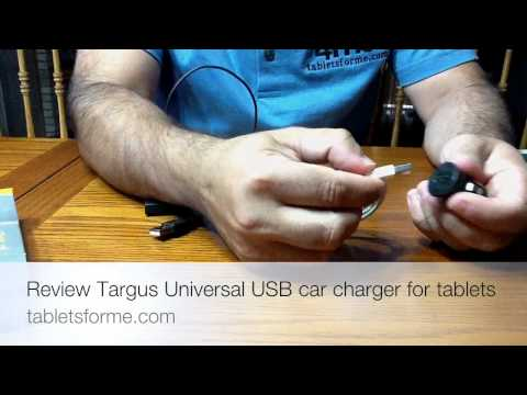 Review of the Targus Universal USB car charger for Tablets