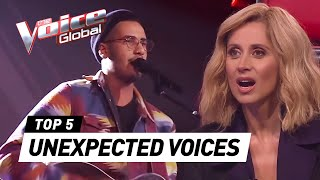 Video Most UNEXPECTED VOICES in The Blind Auditions of The Voice MP3, 3GP, MP4, WEBM, AVI, FLV November 2018