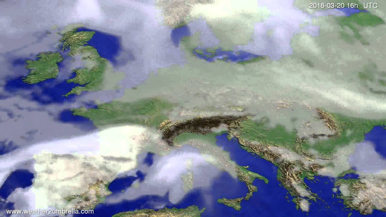 Cloud forecast Europe 2016-03-17