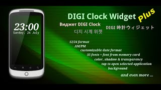 DIGI Clock Widget Plus YouTube video