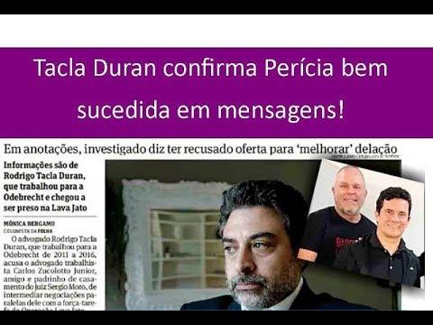 Tacla Duran, confirma perícia bem sucedida em mensagens que provam acordo por propina!