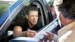 Spotted: Salman Khan Helps Boy in Wheel Chair | Hindi Latest News | Mehboob Studio, Bandra