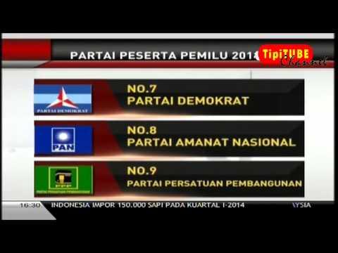 Parpol Peserta Pemilu 2014 | No urut partai
