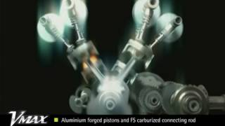 2. 2009 Vmax Xray Film engine drive train animations