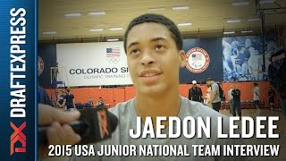 Jaedon LeDee 2015 USA Basketball Mini-Camp Interview
