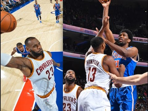 Lebron James and Joel Embiid Battle in Philly