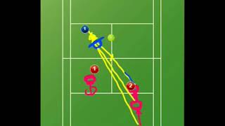 tennis doubles  - basical offence  2up