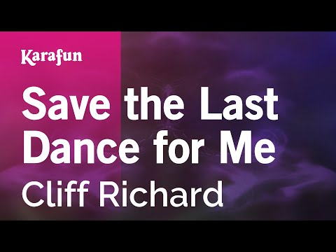 Karaoke Save the Last Dance for Me - Cliff Richard *