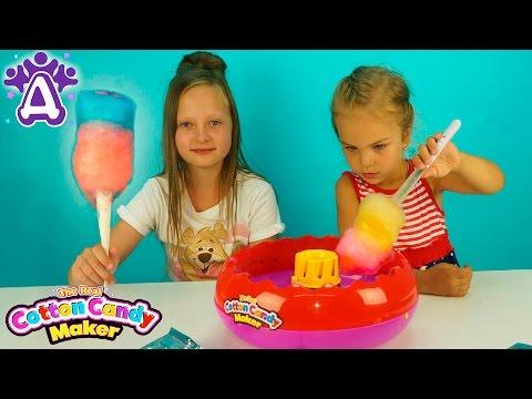 Сладкая вата Для детей Делаем вату Смешивание цветов Детские видео и игры для детей Друзяки.fоr кids - DomaVideo.Ru