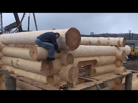 Эксклюзивная деревянная русская баня (дикий сруб)