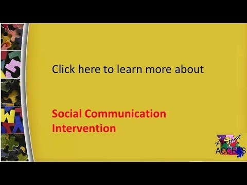 Social Communication Intervention