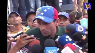 Así hablo Capriles este 24E