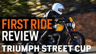 1. Triumph Street Cup First Ride Review at RevZilla.com