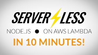 In under 10 minutes, we'll have a production and staging server running on AWS Lambda using Serverless.This AWS Lambda tutorial shows how powerful functions as a service are and how easy it is to get up and running with them.The Serverless framework helps you get up and running in production in 3 commands. (2 if you already have the AWS CLI installed!)