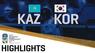 Korea wanted to surprise and did it by writing history. The Olympic host country beat Kazakhstan for the first time ever, 5-2. 2017 IIHF Ice Hockey World Cha...