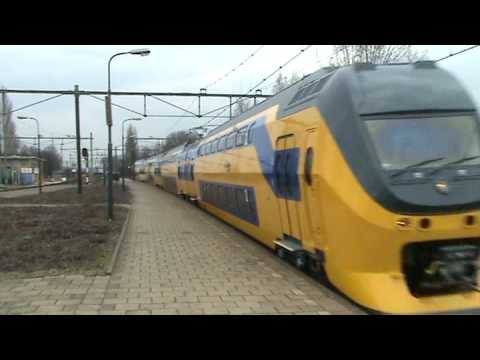 Brandnew Dutch Doubledecker Passenger VIRM Train No 9582 At Blerick, The NL  FIRST RUN!!!!!