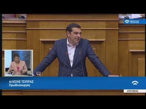 Δευτερολογία Πρωθυπουργού Α.Τσίπρα(Συζήτηση προ Ημερ.Διατάξεως γιά την Οικονομία)(05/07/2018)