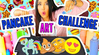 DIBUJOS QUE SE COMEN!! PANCAKE ART CHALLENGE 🦄🌈💕 | Mariale