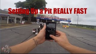 How To Setup a Motorcycle Race Pit Timelapse