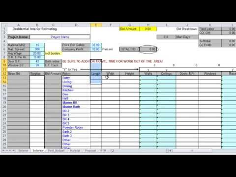 Excel Estimating for Painting