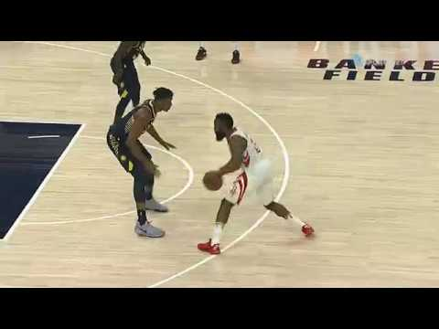 Poor Myles Turner tries to guard James Harden