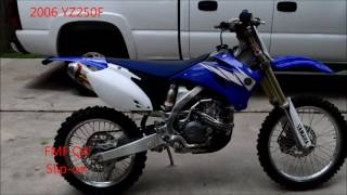 4. 2006 YZ250F FMF Q4 exhaust VS stock