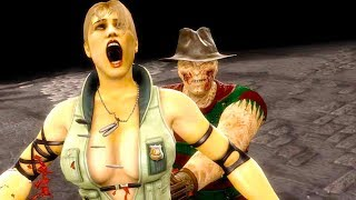 Mortal Kombat 9 - All Fatalities & X-Rays on Sonya Special Forces Costume 4K Ultra HD Gameplay Mods