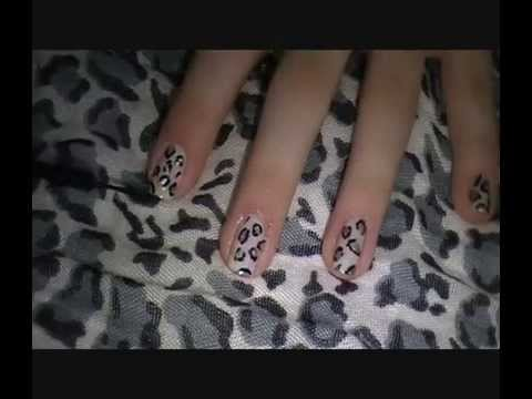 Snow Leopard print nail tutorial, special 1 year anniversary edition!