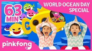 Video Baby Shark Dance and more | World Oceans Day | +Compilation | Pinkfong Songs for Children MP3, 3GP, MP4, WEBM, AVI, FLV Juni 2019