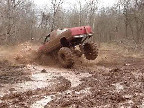 MUD TRUCKS - BOUNTY HOLE CRASH!! at Red River Mud Bog - PART 3