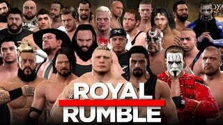 WWE 2K17 - 30 Man Royal Rumble With 10+ Surprise Entrants!