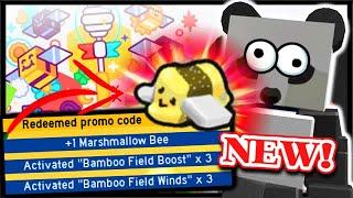 ALL *NEW*  CODE, FREE MARSHMALLOW BEE & ??? | Roblox Bee Swarm Simulator