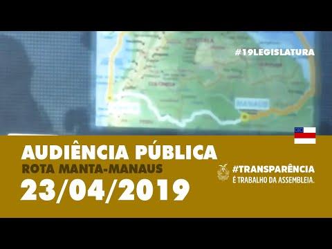 """Audiência Pública """"Rota Manta-Manaus"""""""