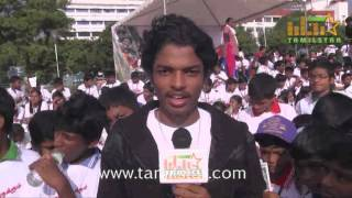 Sriram at Vajram Team Organized Marathon for School Students