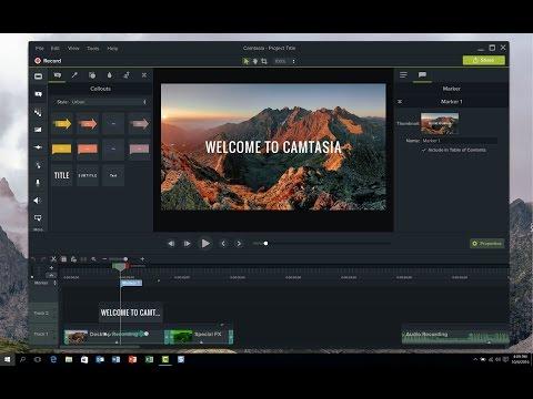 TechSmith Camtasia Studio 9 Video Editing Software Overview