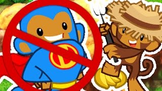 NO SUPER MONKEY CHALLENGE - BLOONS TOWER DEFENSE 5