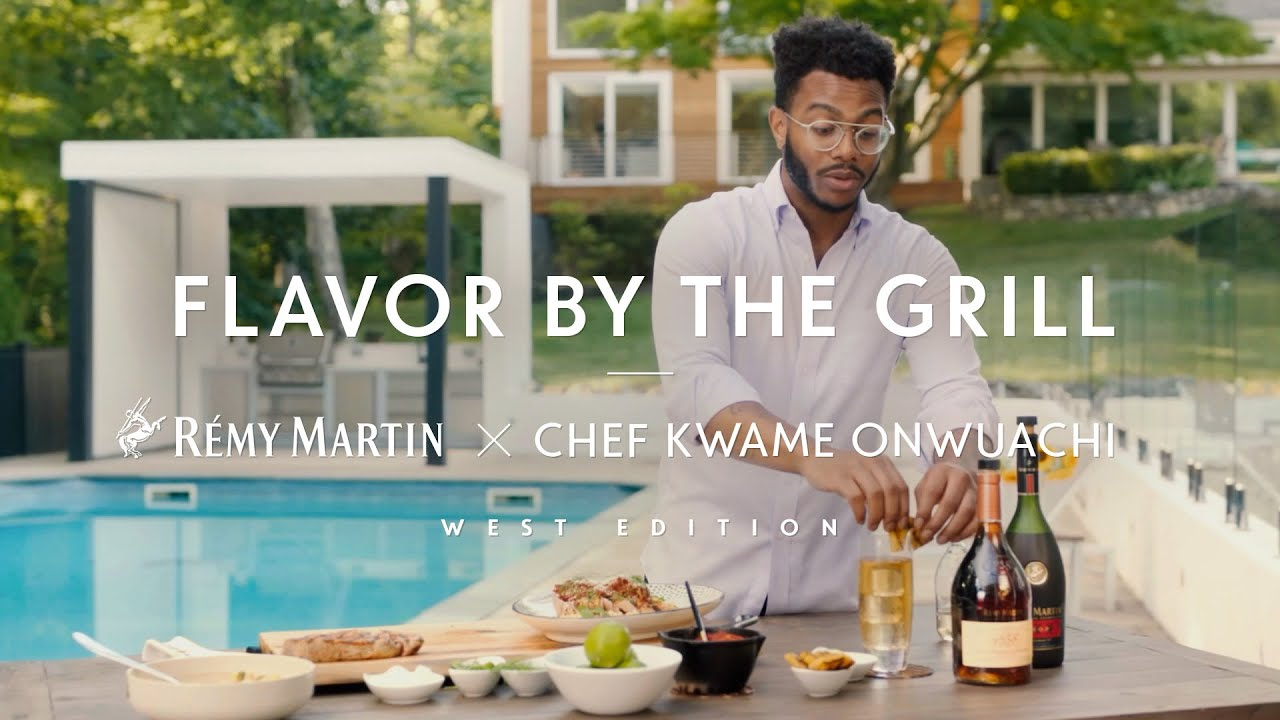 Rémy Martin x chef Kwame Onwuachi | Flavor by the Grill: The West, Charred Elote with Grilled Tuna