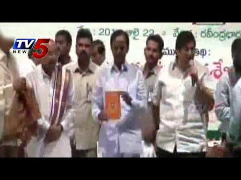 Telangana Bhasha Samskruthika Mandali Presents Dasaradhi Books To CM KCR : TV5 News