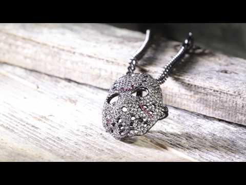 Black Hockey Mask Necklace | Hip Hop Necklaces | King Ice