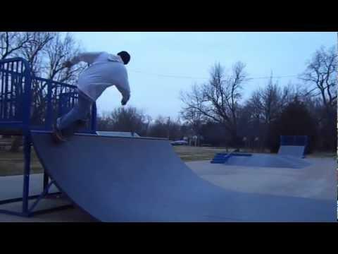 Adrian Parcel skateboarding at Mulvane,Kansas Skatepark
