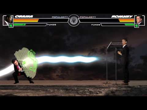 slatester - President Obama faces off against his mortal enemy Mitt Romney. Created by Taige Jensen and Andrew Bouvé Music - Dubmood & Zabutom President Obama's Body - K...