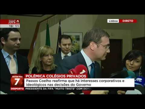 Declarações de Pedro Passos Coelho no final da reunião com o Conselho Nacional de Educação