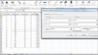 Chow test for regression stability Test tutorial video