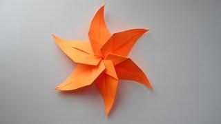 Звезда из бумаги. Новогодние поделки оригами. Украшение на Новый год 2018